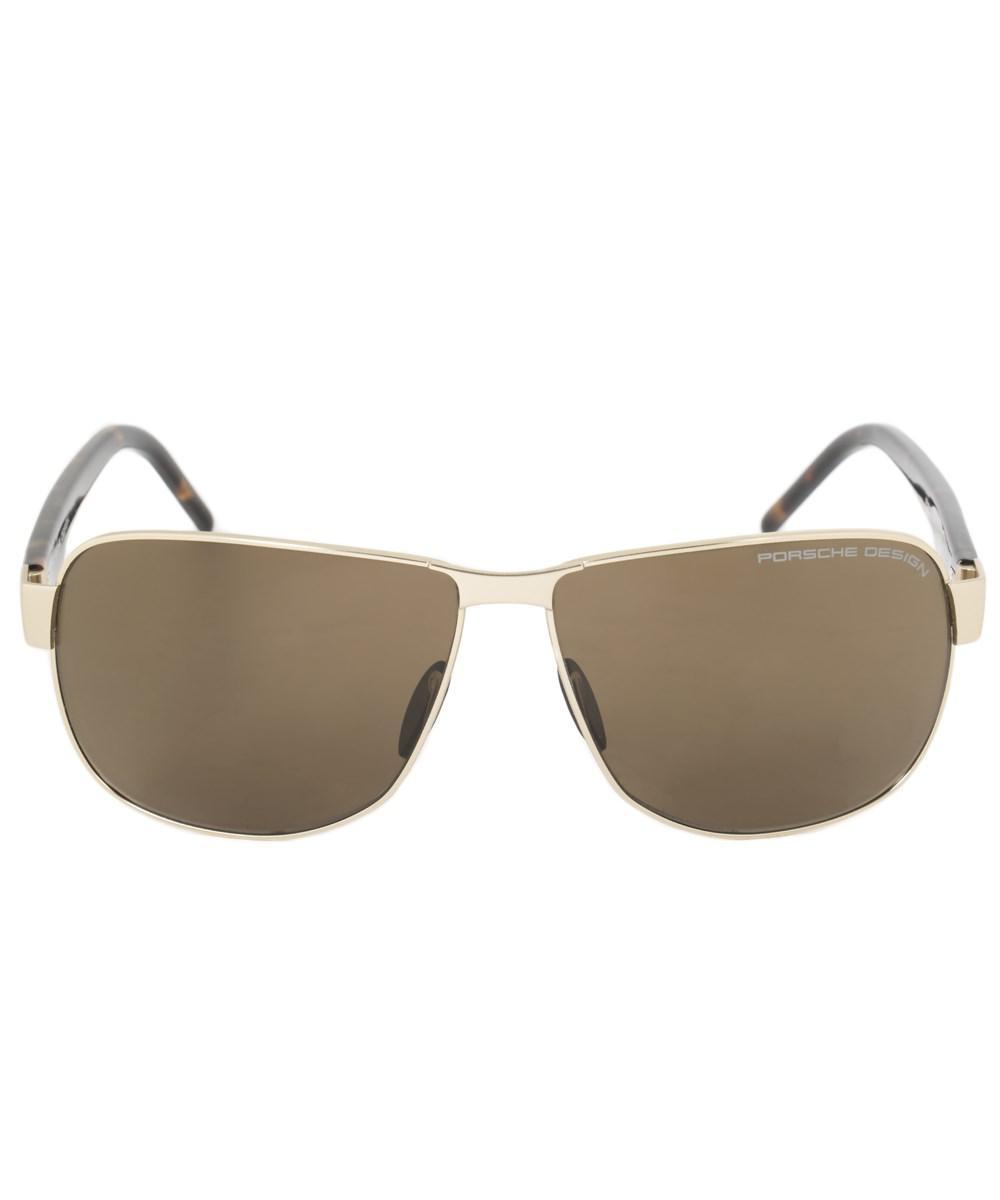 04faa978d237 Porsche Design. Women s Metallic Design P8633 B 61 Aviator Sunglasses For  Men