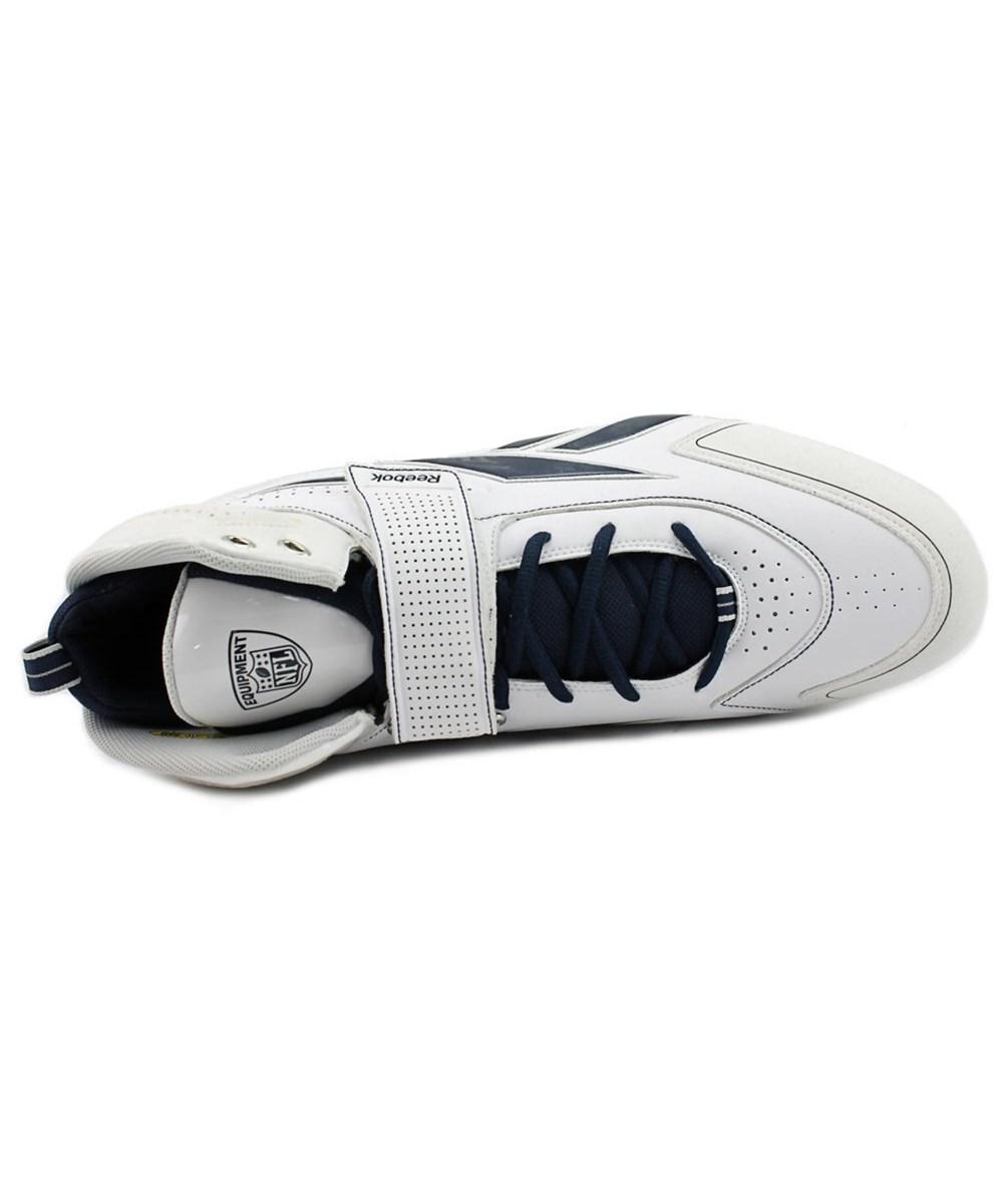 bd91be8e6592c2 Lyst - Reebok Pro Thorpe Iii Mp Men Round Toe Leather White Cleats ...