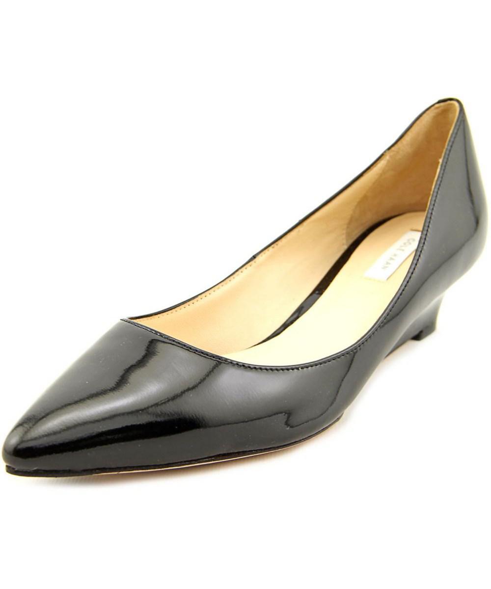 Womens High Heels Haan Bradshaw Patent Leather Wedge Pumps Heels Under Discount