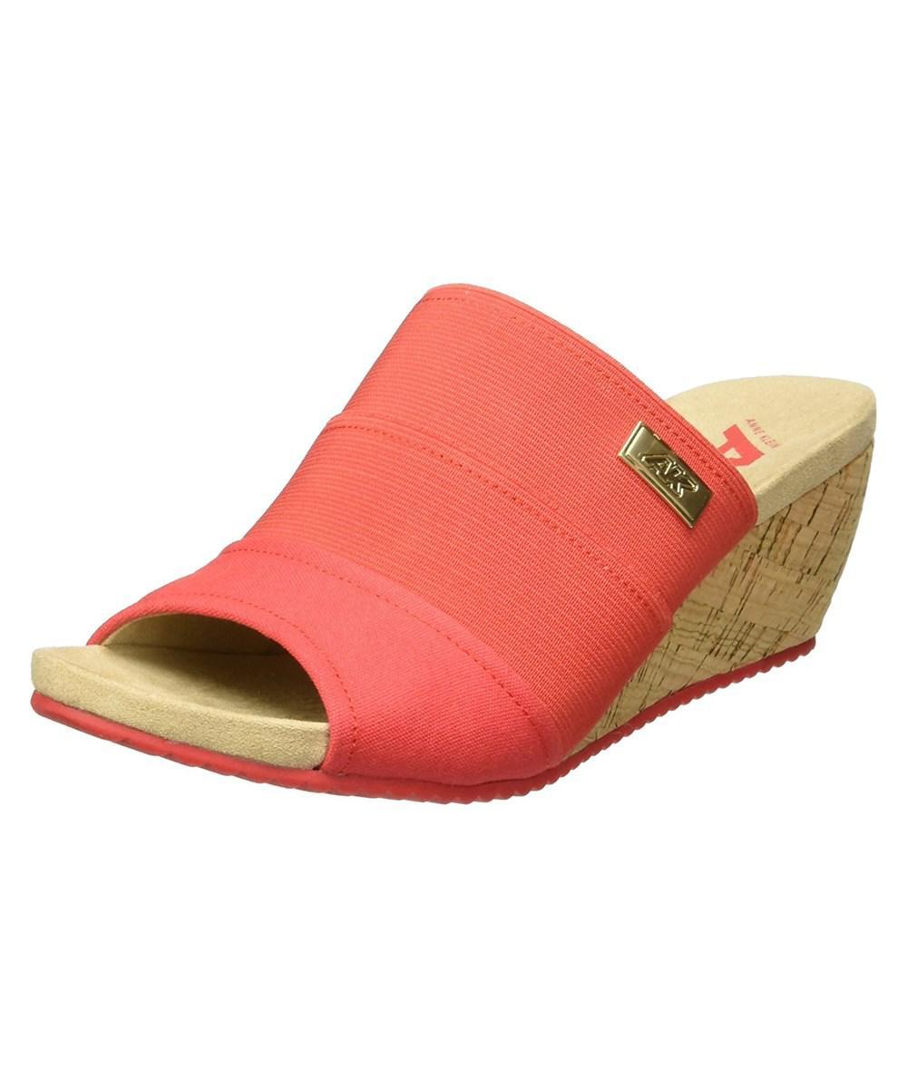 b29a307914e Lyst - Anne Klein Womens Chanay Fabric Open Toe Casual Slide Sandals ...