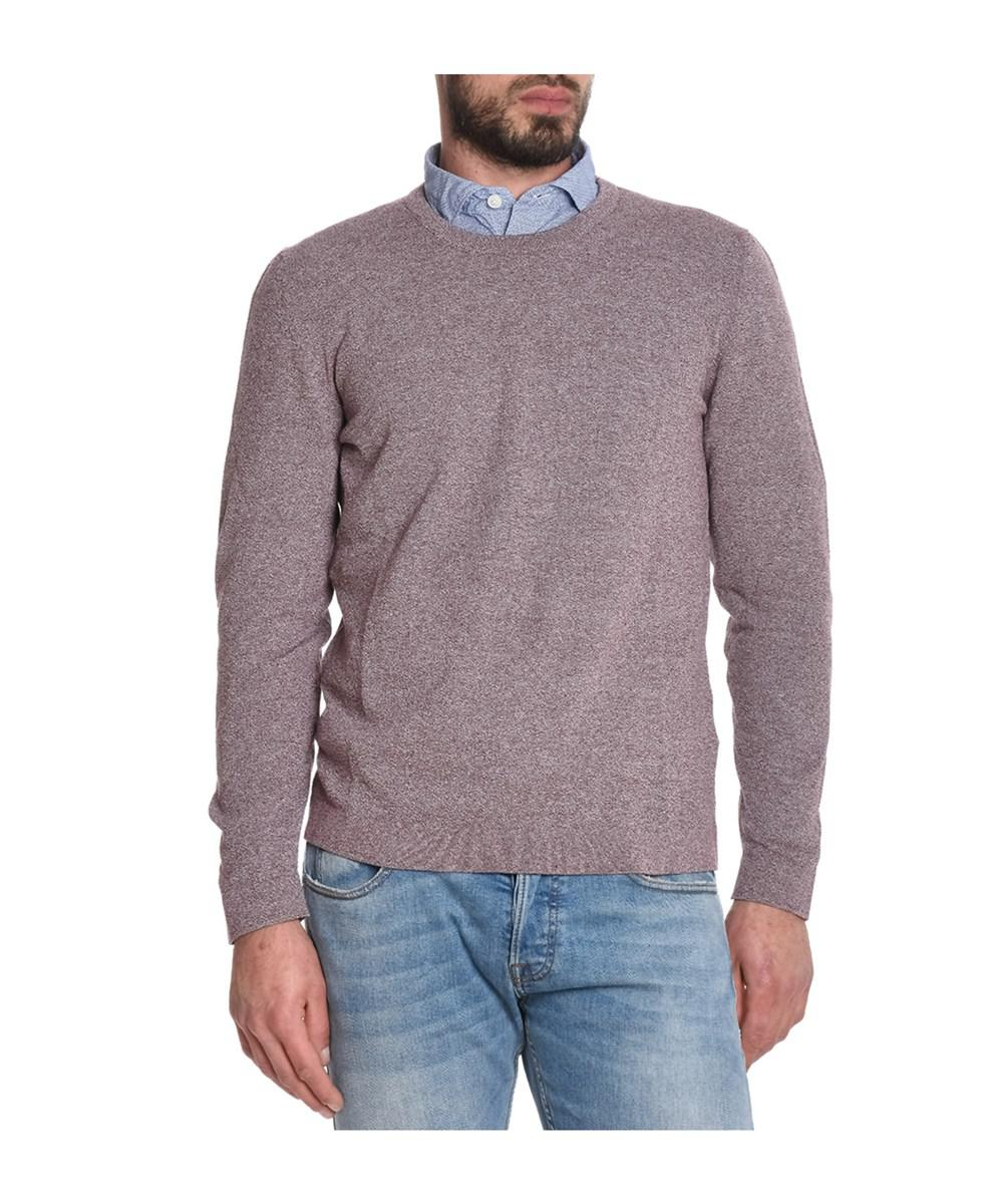 Eleventy Men's Red Cotton Sweater in Red for Men | Lyst