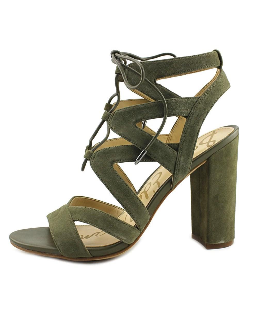 3d578e88df3e8 Lyst - Sam Edelman Yardley Women Open Toe Suede Green Sandals in Green