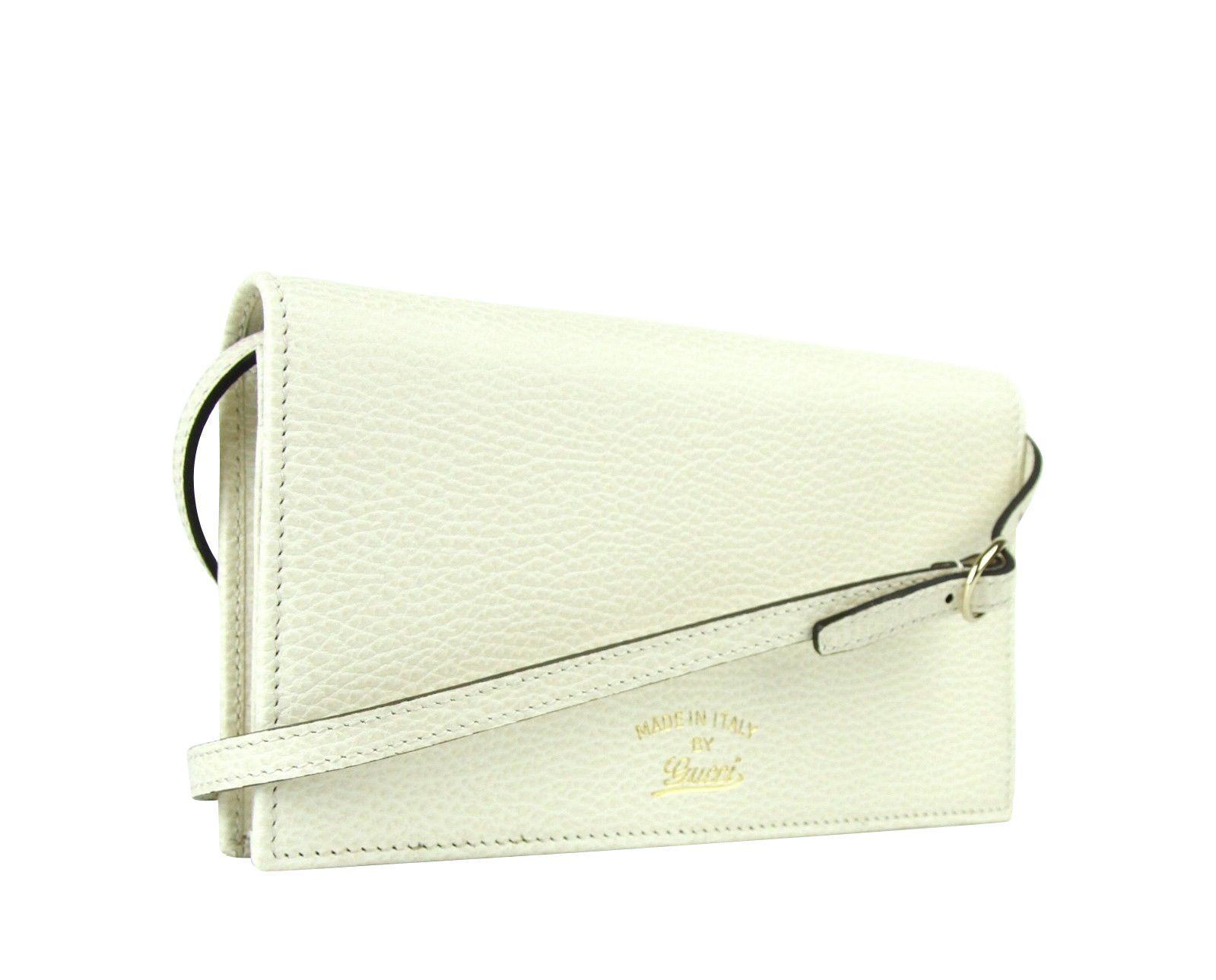 338cb47b7aeb4 Gucci - Swing Creamy White Leather Crossbody Clutch Wallet 368231 9022 -  Lyst. View fullscreen
