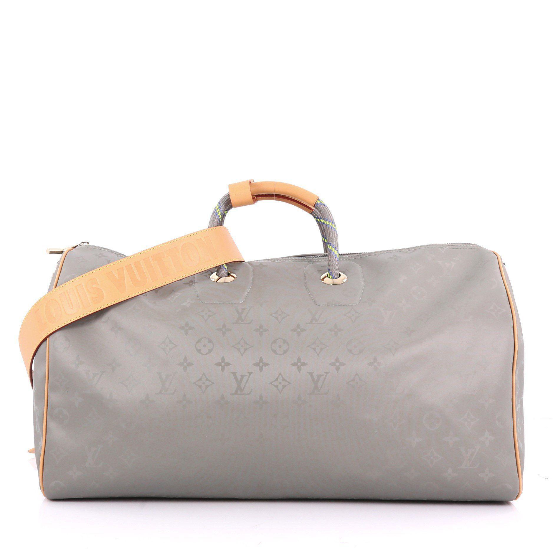 5d6a3792ea4f Louis Vuitton. Women s Gray Pre Owned Keepall Bandouliere Bag Limited  Edition Titanium Monogram Canvas 50
