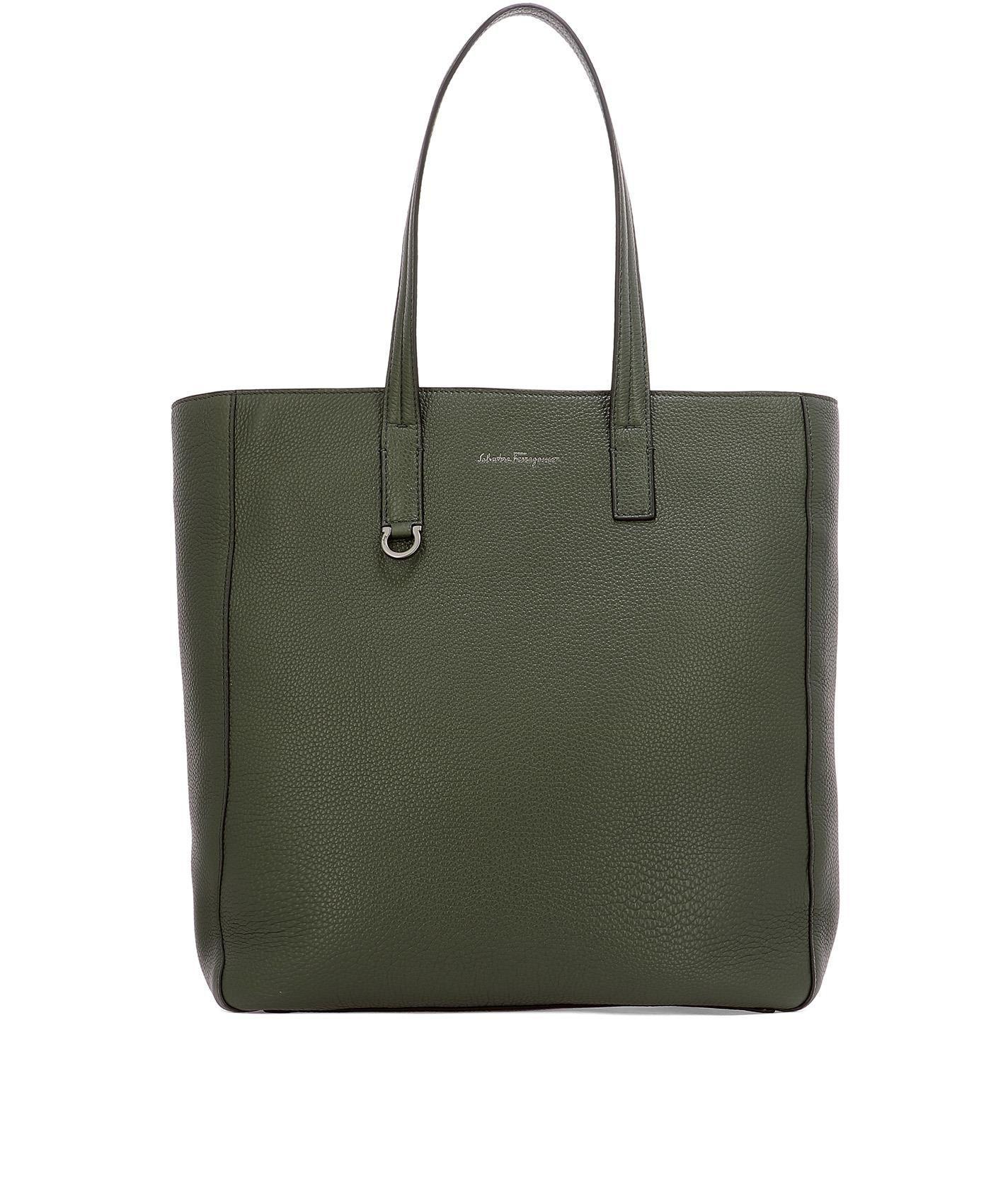 eadb7ad3eef2 Ferragamo Men s Green Leather Shoulder Bag in Green - Lyst