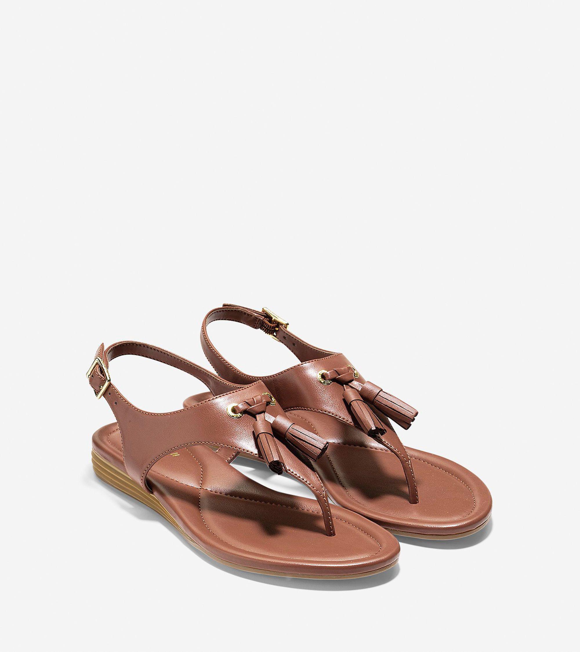 7ea025125af Lyst - Cole Haan Womens Rona Split Toe Casual Slingback Sandals in Brown