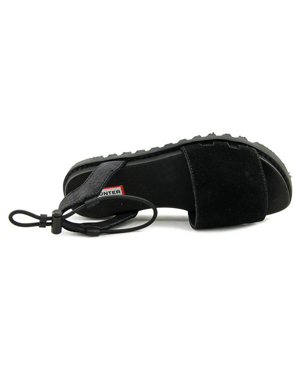 56f391d6a6ea Lyst - Hunter Womens Original Sandal Slide Open Toe Casual Slide Sandals in  Black