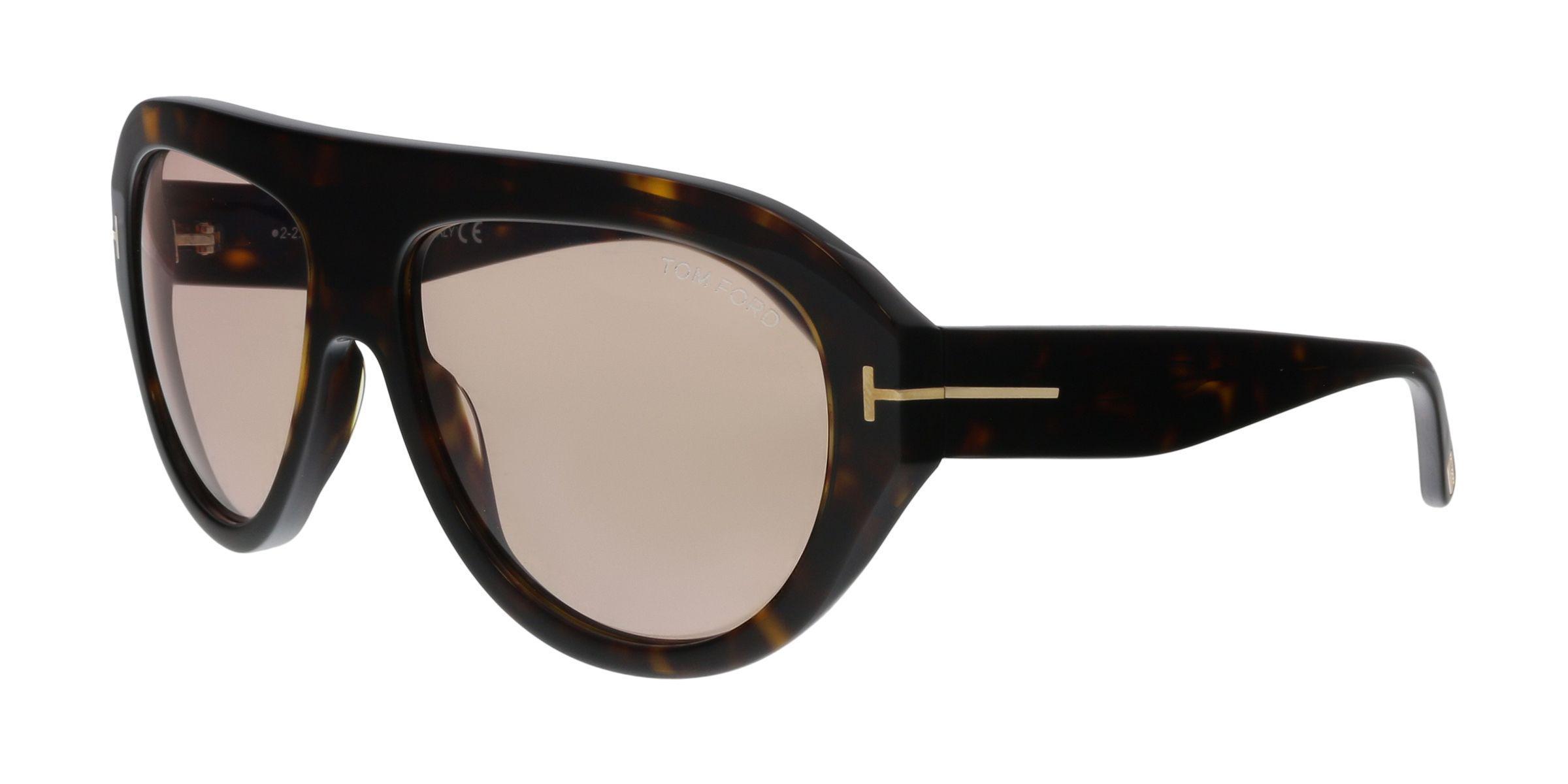 b888304e93 Lyst - Tom Ford Ft0589 52y Havana Aviator Sunglasses in Black for Men