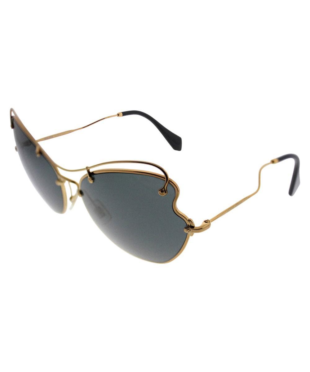 acfcbddf28b Lyst - Miu Miu Women s Mu56rs 65mm Sunglasses