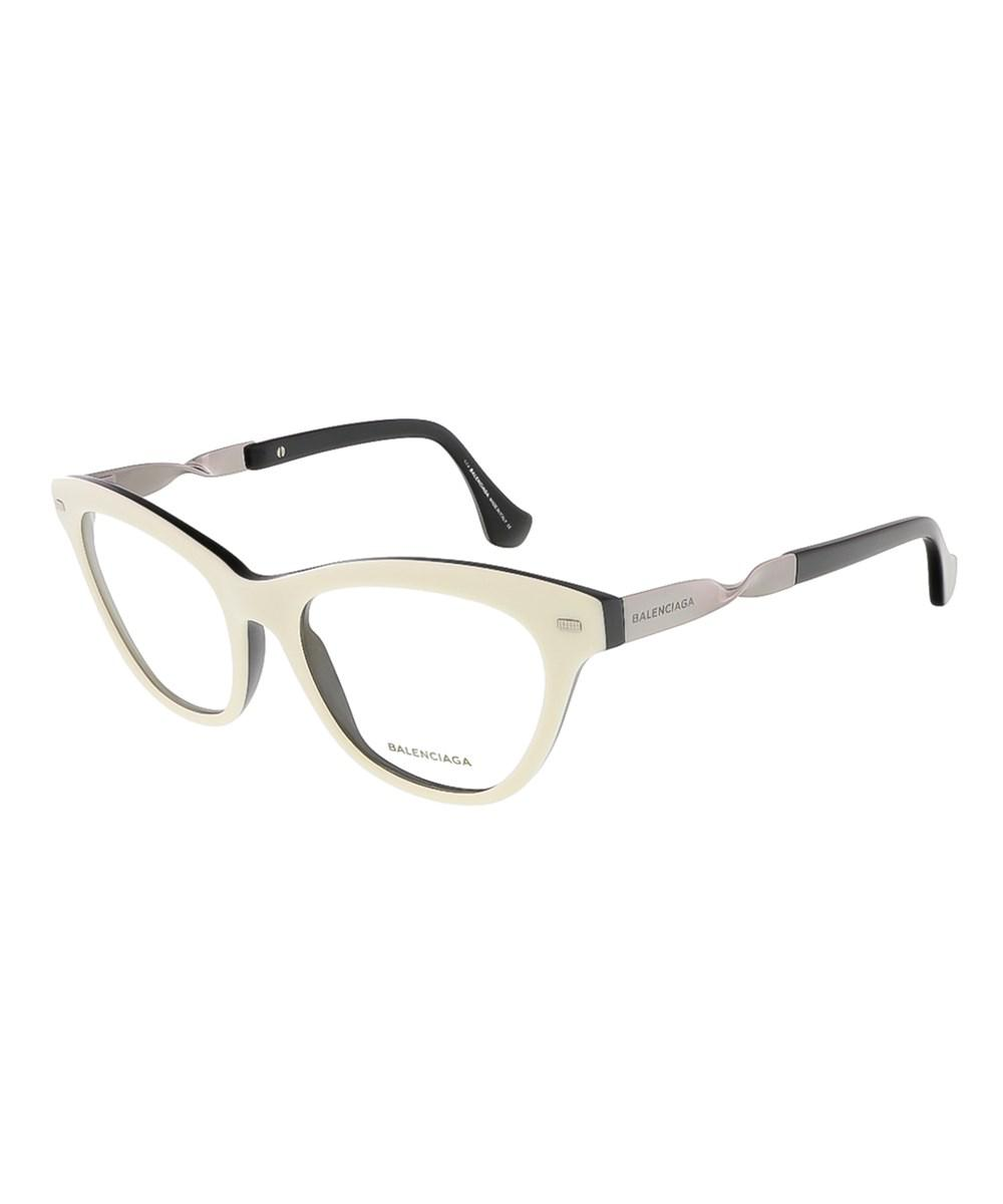 Balenciaga Ba5015/v 024 White/black Cat Eye Prescription-eyewear ...