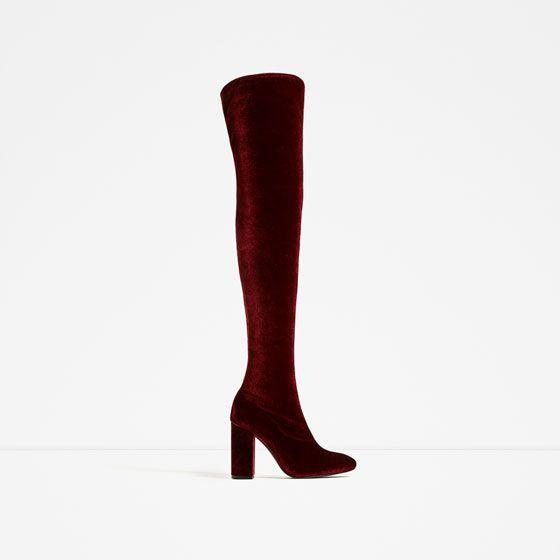 2bfe8177a Lust For Life - Red Lfl By Womens Lure Velvet Almond Toe Over Knee Fashion  Boots. View fullscreen