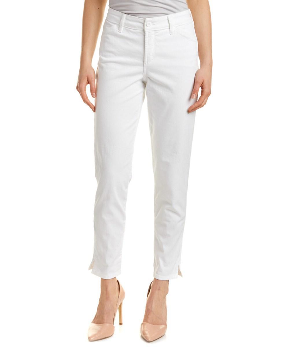 c69f977eb47f5 Lyst - Nydj Celia Optic White Trouser in White