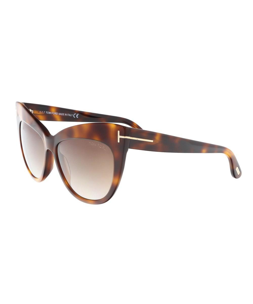 785635ac472d Tom Ford Ft0523 3f Nika Medium Havana Cat Eye Sunglasses in Brown - Lyst