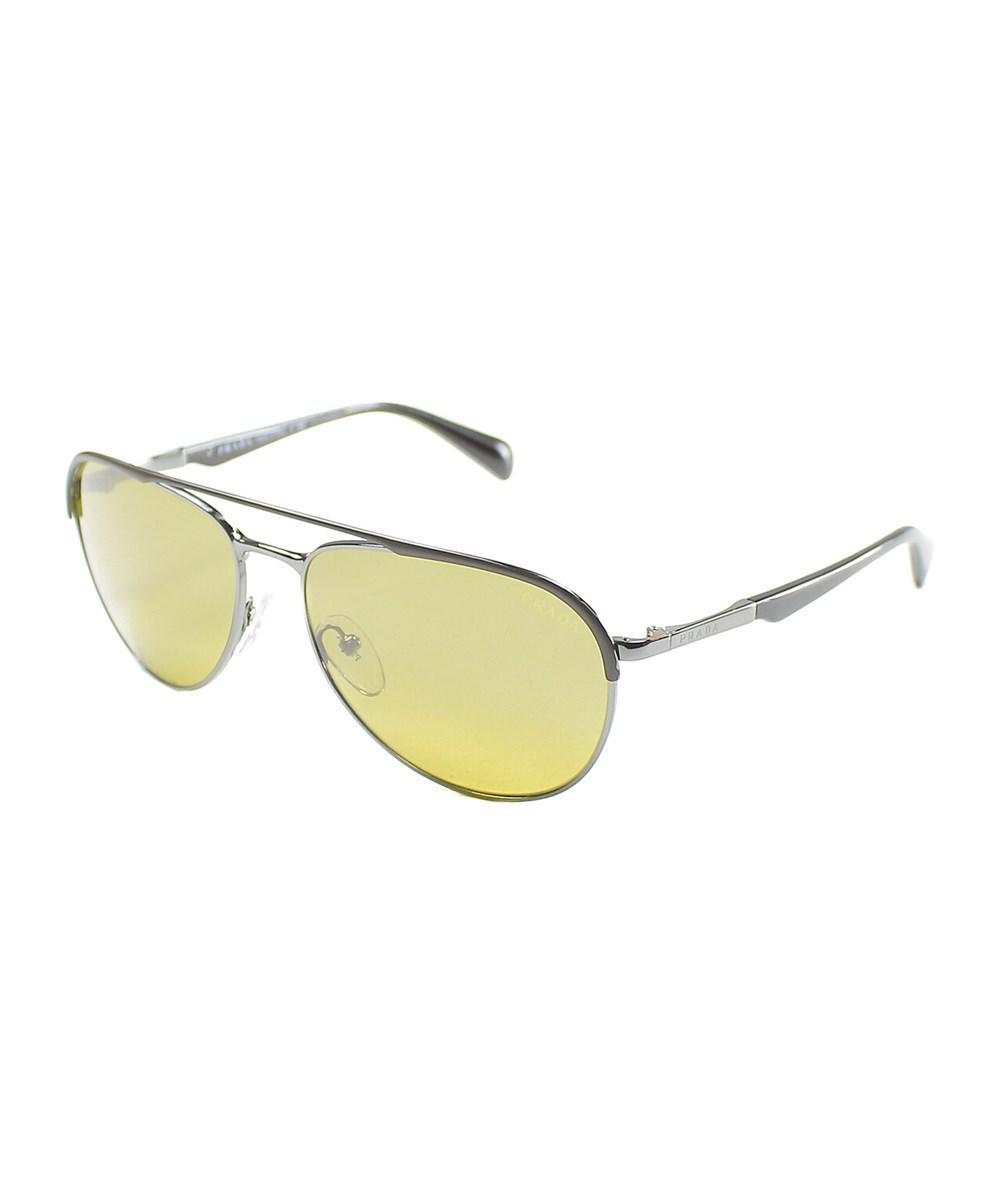 e6dd4c7cee52 Lyst - Prada Pilot Metal Sunglasses in Brown