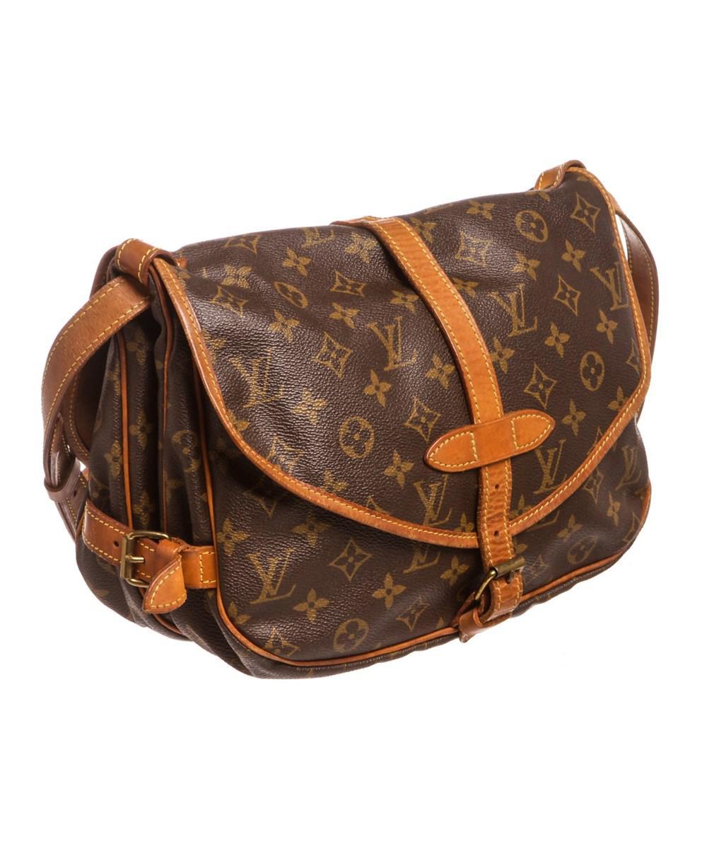 Lyst - Louis Vuitton Monogram Canvas Leather Saumur 30 Cm Messenger Bag in  Brown 0ee21e568