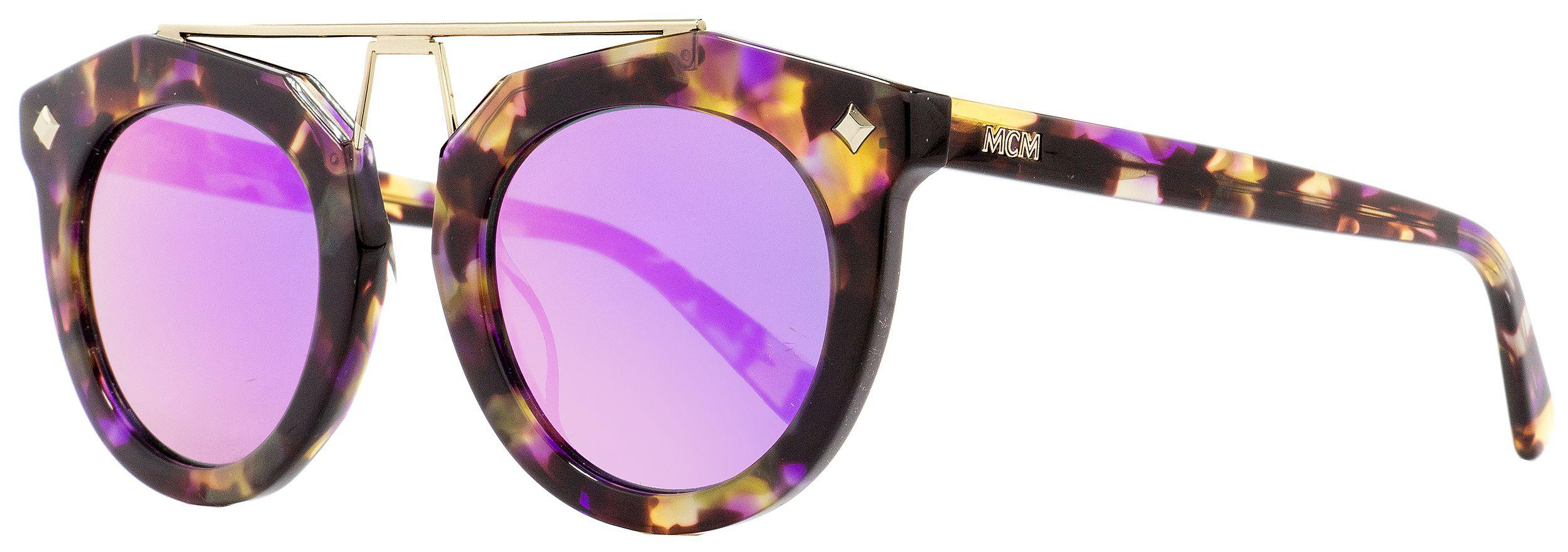 3e8c9861256 Lyst - Mcm Oval Sunglasses 636s 236 Havana Violet gold 49mm 636 in ...