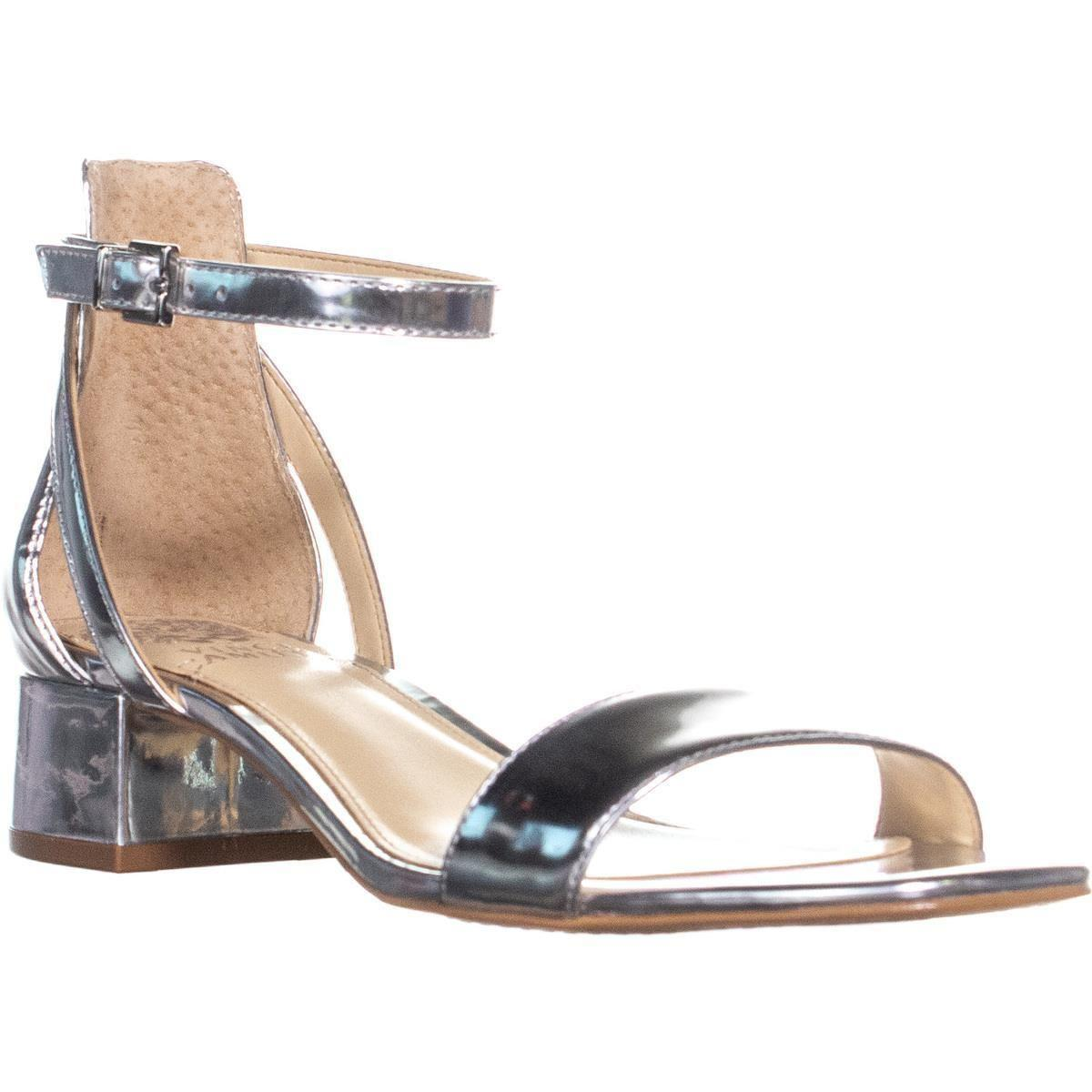 0134784a9ec Lyst - Vince Camuto Shetana Ankle Strap Sandals, Bright Silver in ...