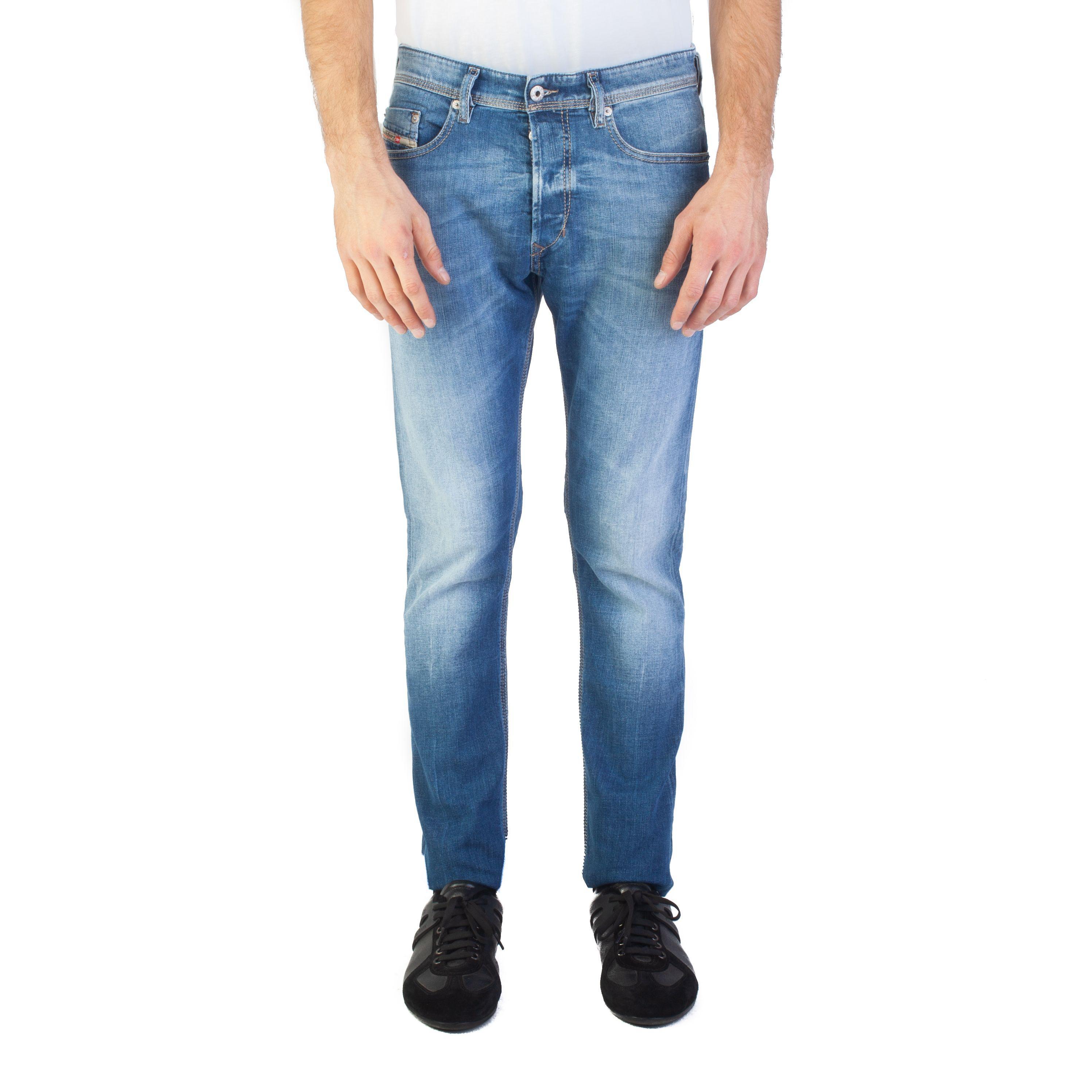 390deba5 Lyst - Diesel Men's Slim Carrot Fit Tepphar Jeans Blue in Blue for Men