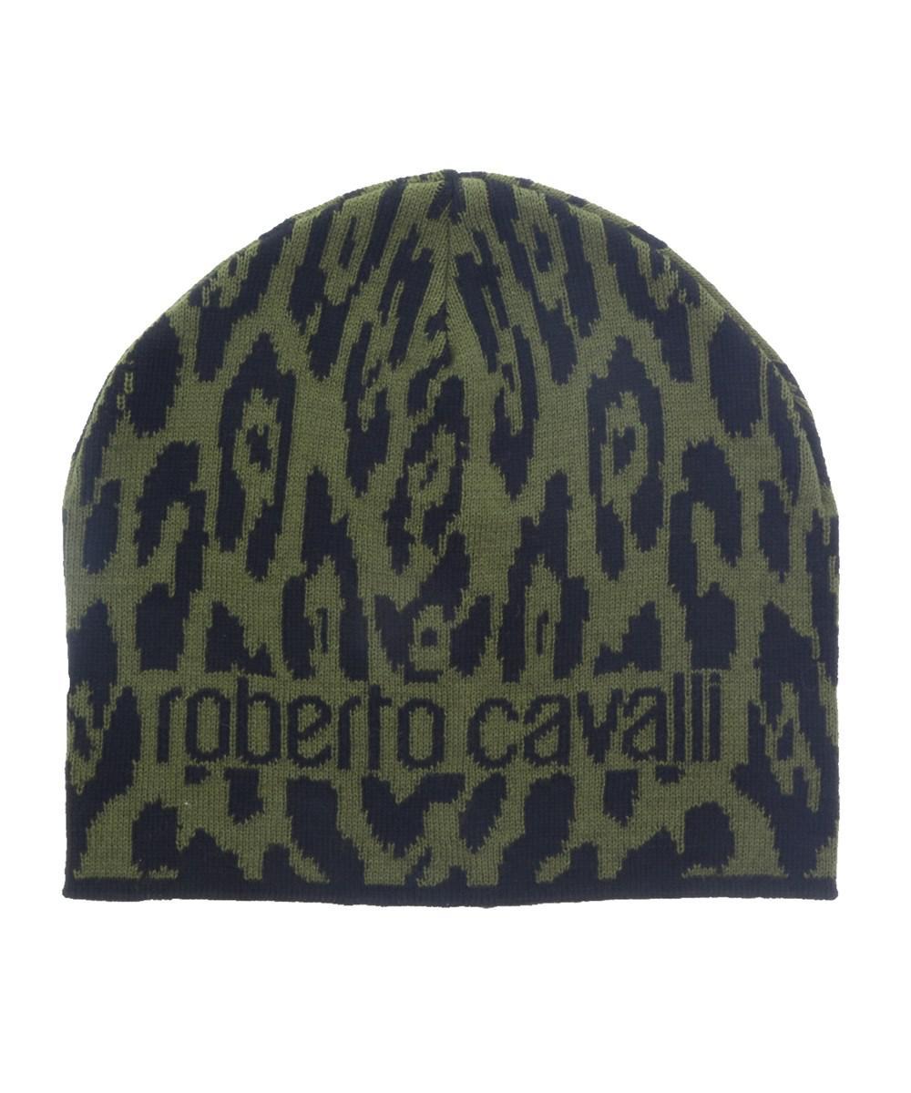 1a69dbd71d4 Lyst - Roberto Cavalli Esz026 D0491 Black military Green Jaguar ...