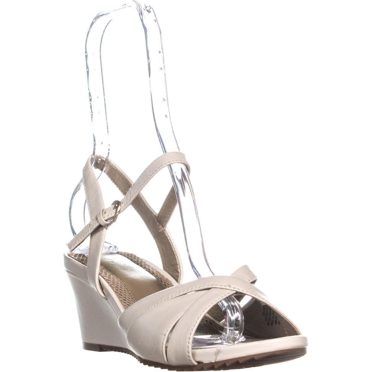db6e3c602543 Lyst - Easy Spirit Laralee Peep Toe Ankle Strap Wedge Sandals