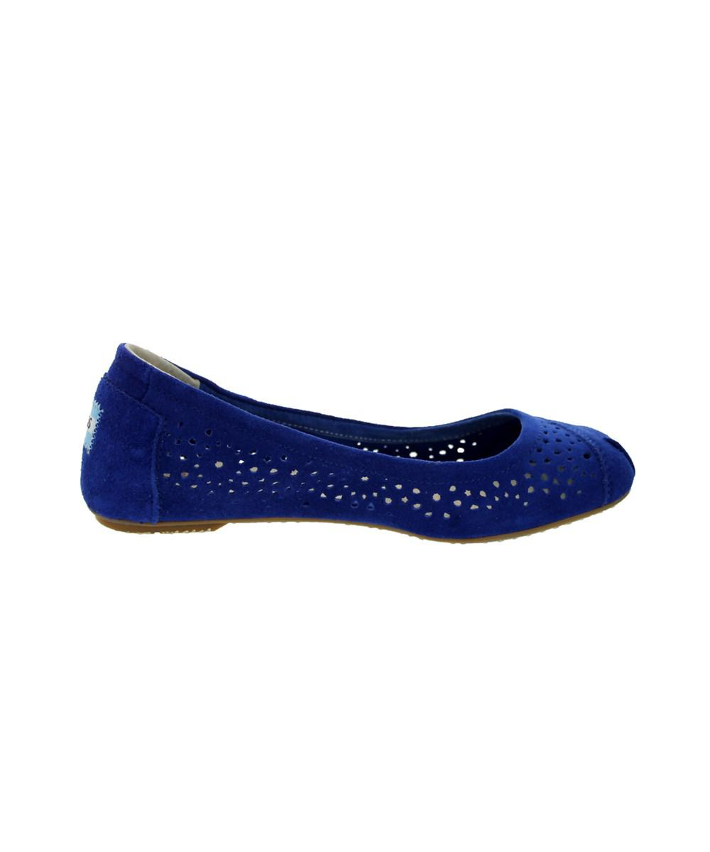 9dd567d2b757e Lyst - Toms Women's Ballet Flats Cutout Loafers & Slip-ons Shoe in Blue