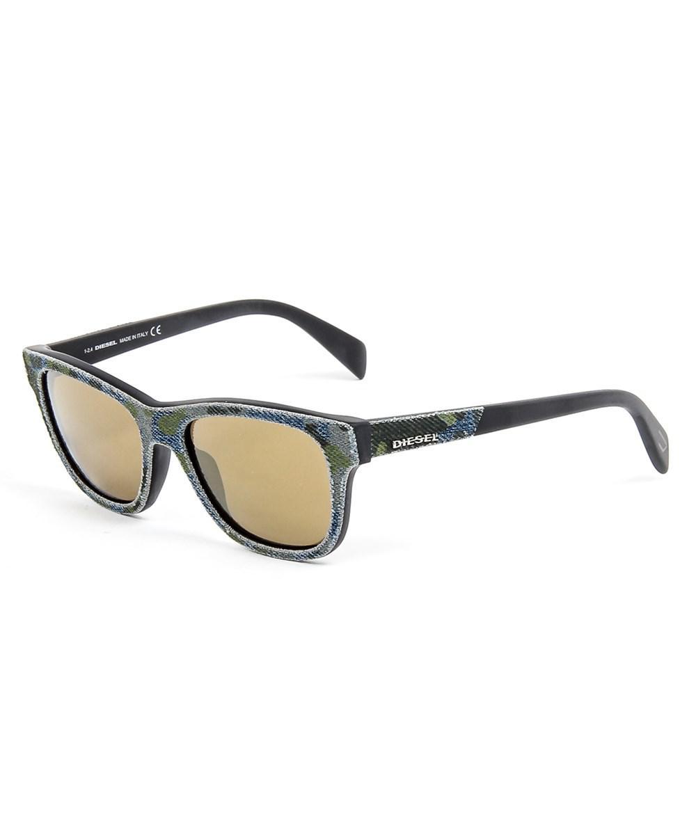 6297e37ce6 Diesel Mens Denim Sunglasses in Green for Men - Lyst