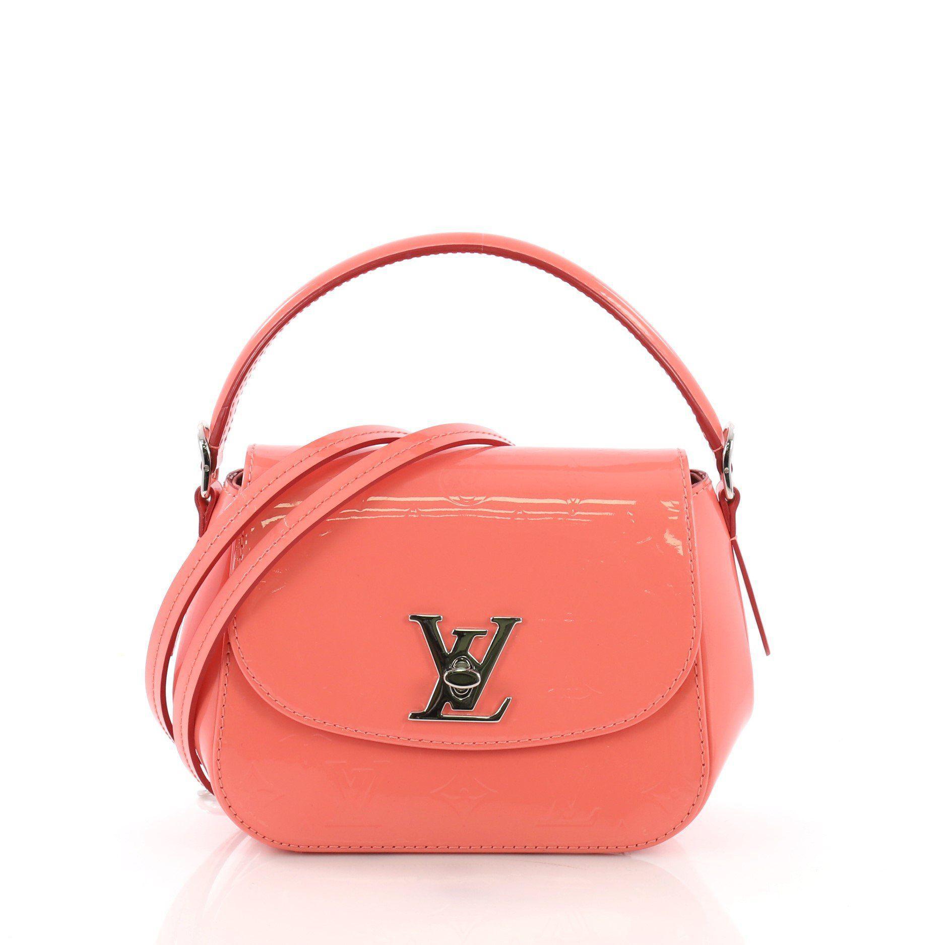 28ce73639216 Lyst - Louis Vuitton Pre Owned Pasadena Handbag Monogram Vernis in Pink