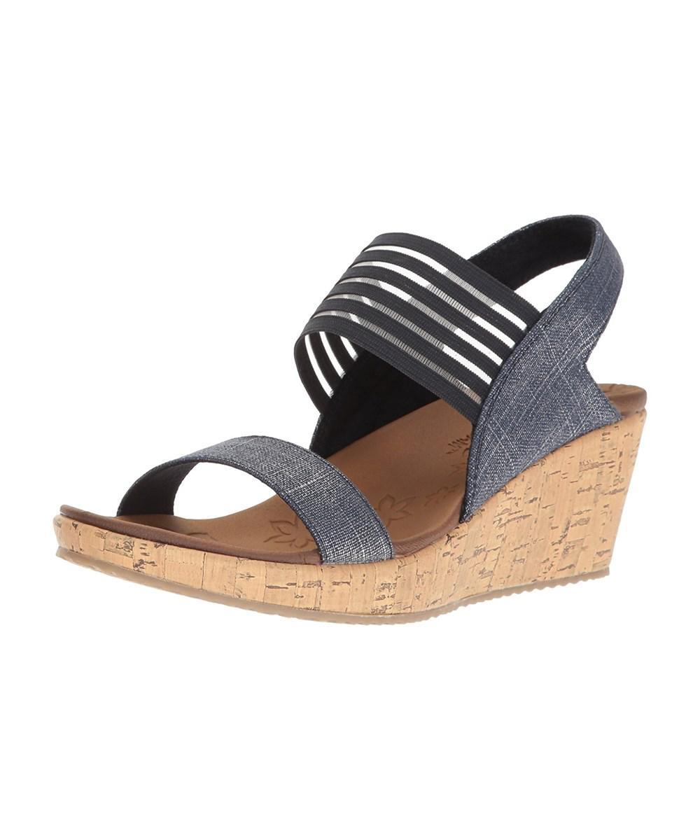 a8ed12c0a09 Lyst - Skechers Womens Beverlee Closed Toe Casual Platform Sandals ...