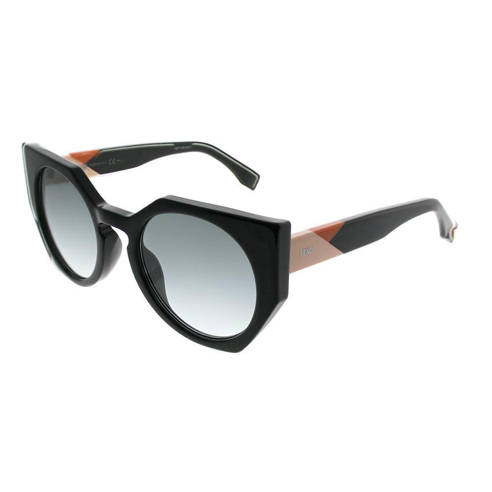 3b5b2239fc7f Lyst - Fendi Facets Ff 0151 807 Black Cat-eye Sunglasses in Black