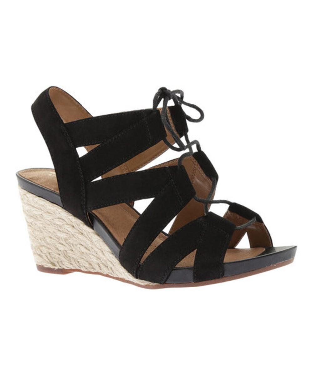 45bf97c25a84 Lyst - Clarks Women s Acina Chester Strappy Wedge in Black