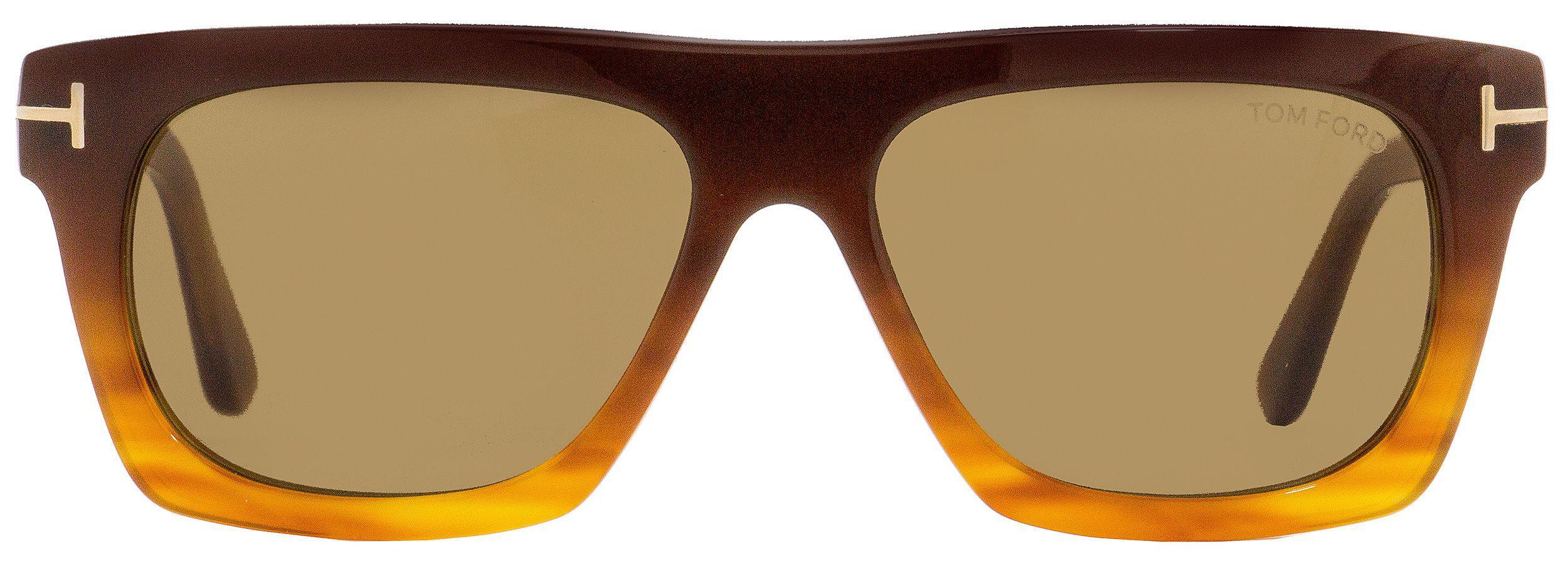 a6a9f99be6 Tom Ford - Rectangular Sunglasses Tf592 Ernesto-02 50e Brown blonde Havana  55mm Ft0592. View fullscreen