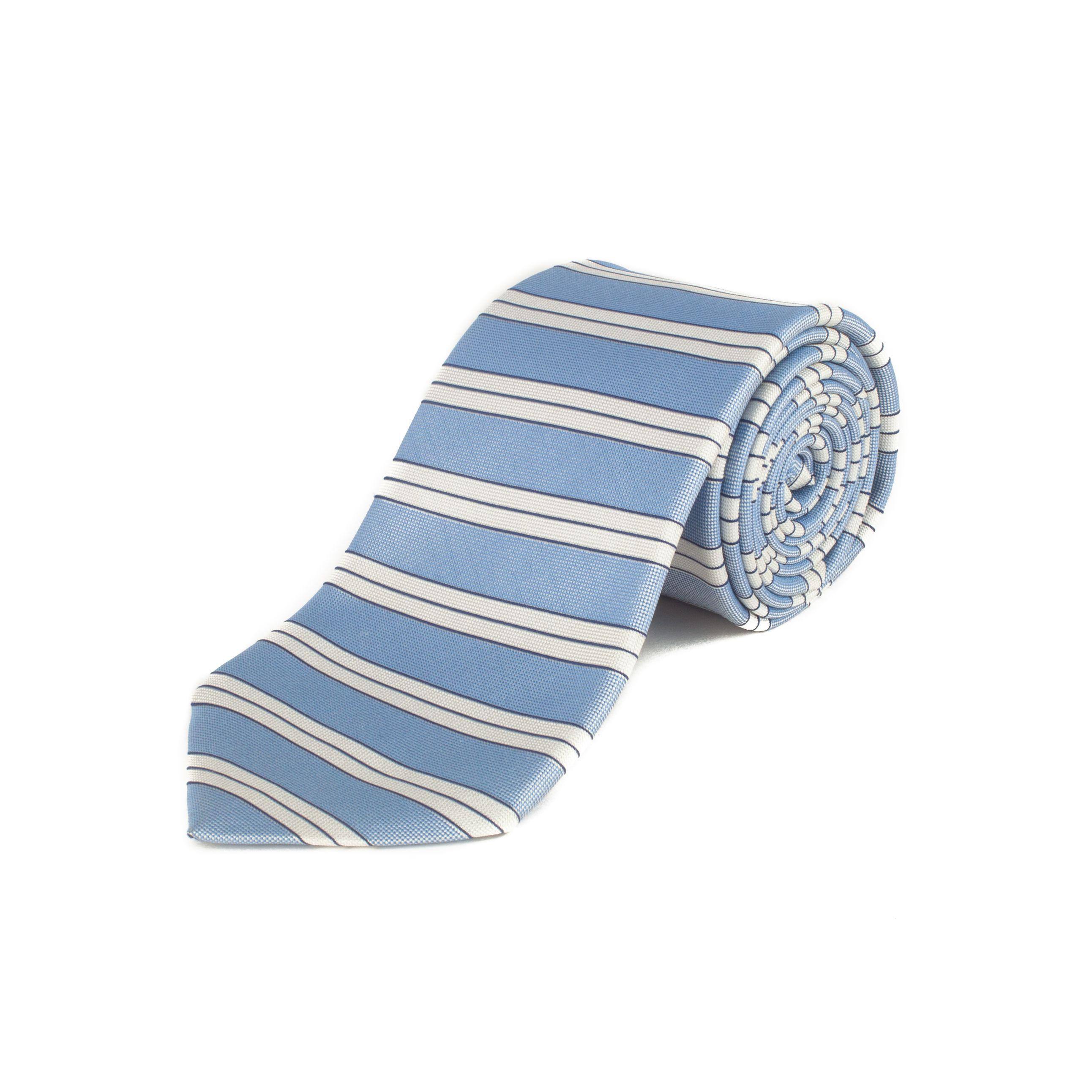 9886d69c Lyst - Ermenegildo Zegna Men's Silk Striped Tie Light Blue in Blue ...