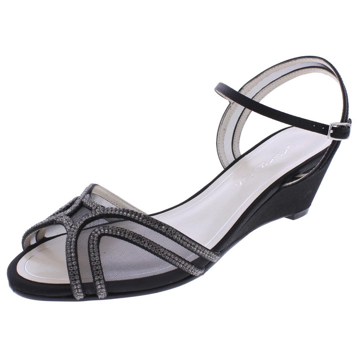 37f379f5391 Lyst - Caparros Womens Hilton Rhinestone Peep-toe Wedge Sandals in Black