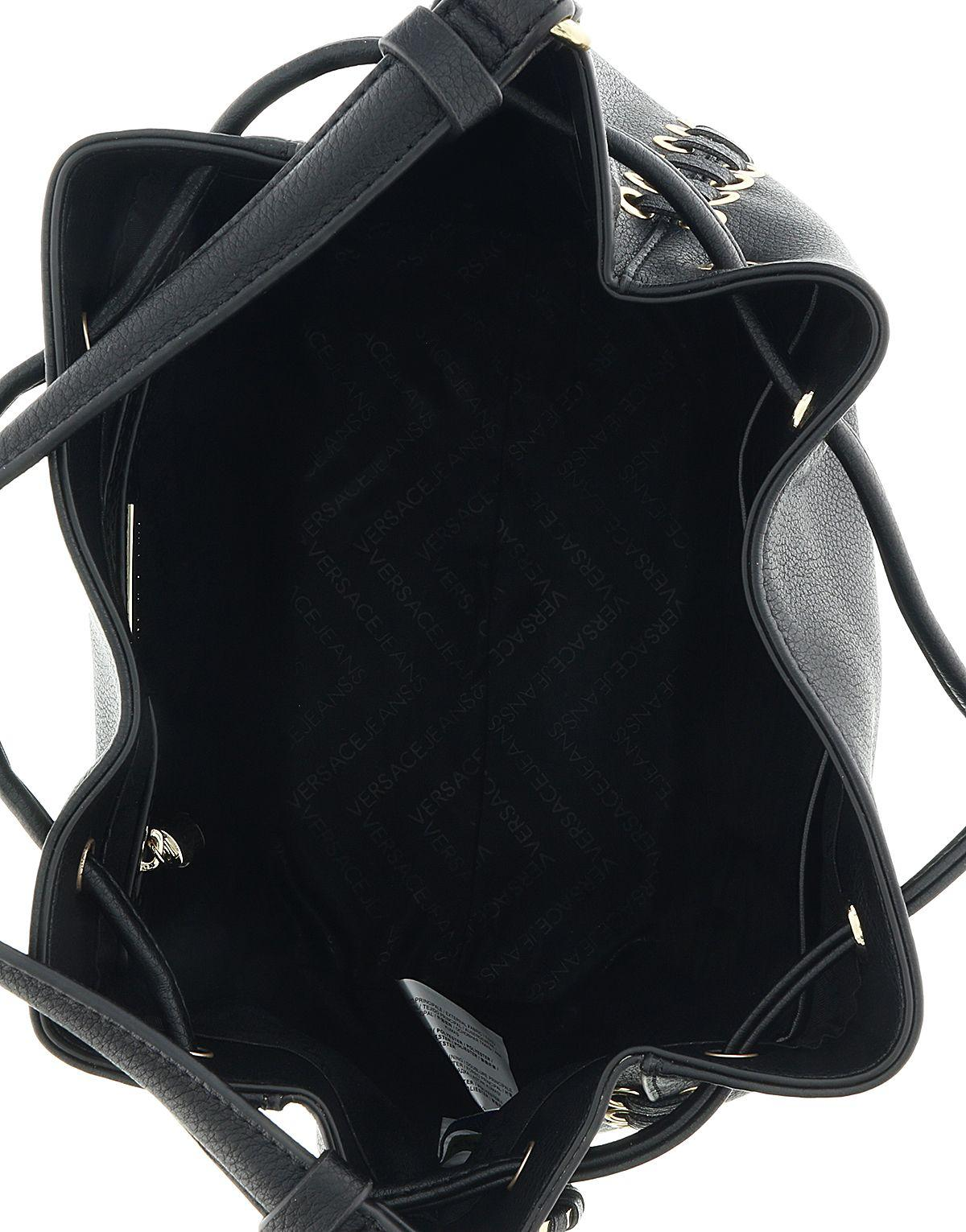 8dd6af6f8104 Versace - Ee1vrbbi3 Black Bucket Bag W  Detachable Strap - Lyst. View  fullscreen