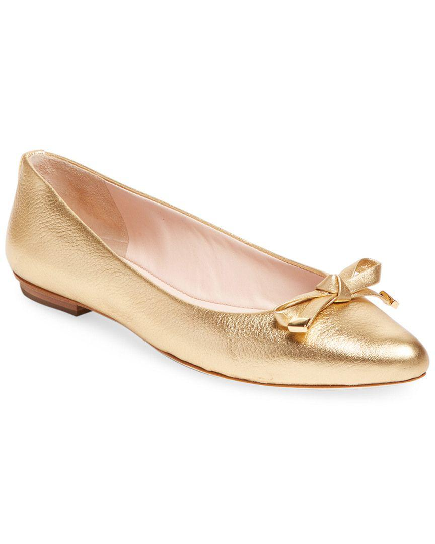 804caacede3f Lyst - Kate Spade Emma Bow Flat in Natural
