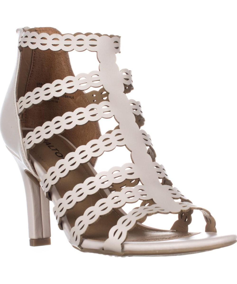 c653f82d47fdc Rialto. Women s White Roma Strappy Zip Heel Sandals ...