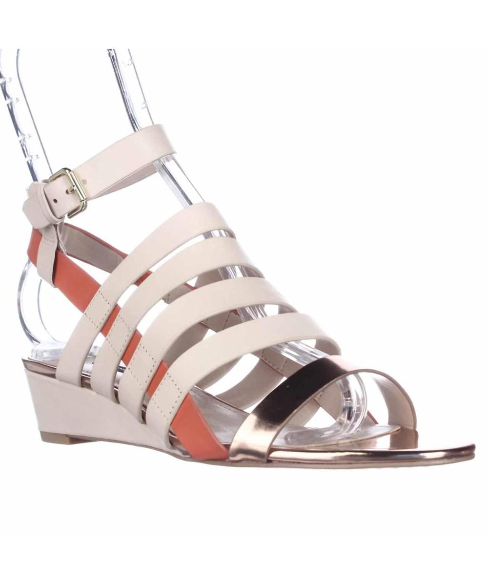 329f33d967f French Connection. Women s White Winona Strappy Wedge Sandals