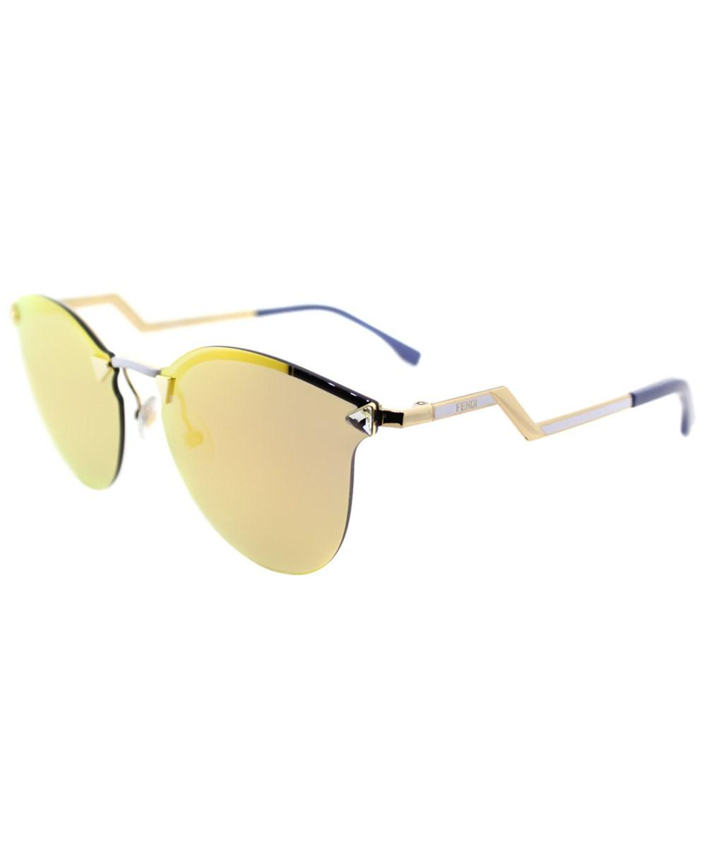 37ef13756d6c Fendi Iridia Ff0040 Jfg Gold Cat-eye Sunglasses in Metallic - Lyst