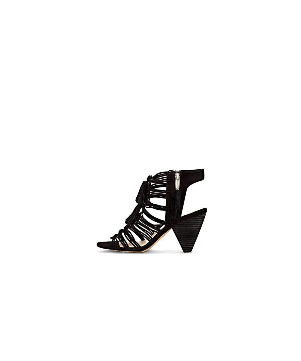 710dd7d98b Vince Camuto. Black Womens Edola Leather Open Toe Ankle Wrap Classic Pumps