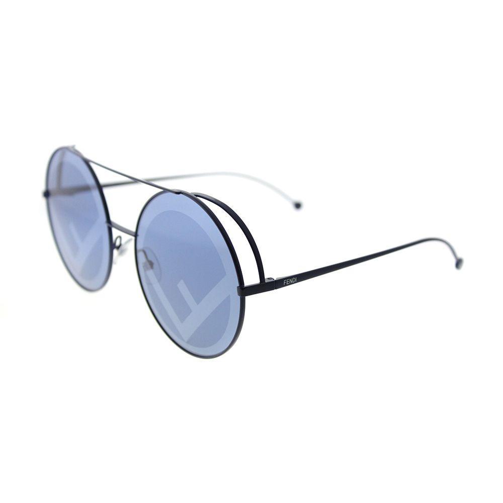 c5b6fbbb2d2 Fendi - Ff 0285 Pjp Blue Round Sunglasses - Lyst. View fullscreen