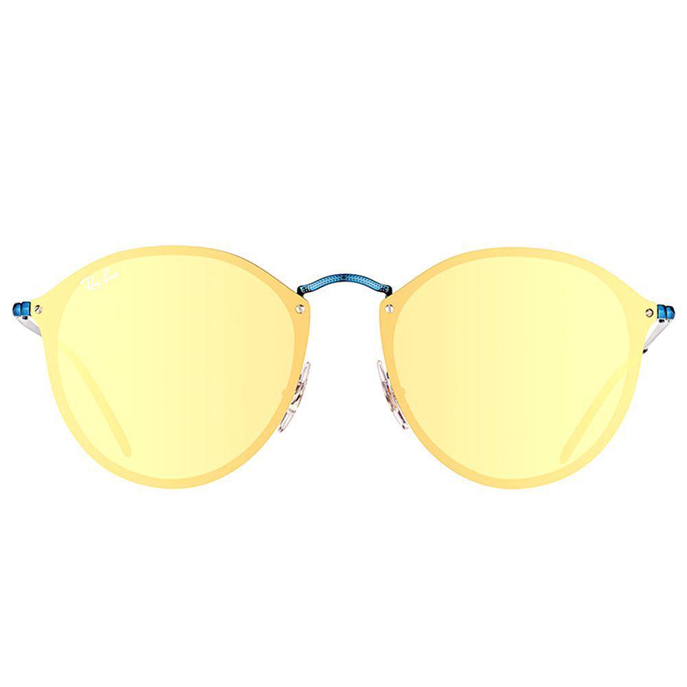 a6c27df5ac Ray-Ban - Multicolor Blaze Round Rb 3574n 90387j Blue Round Sunglasses -  Lyst. View fullscreen