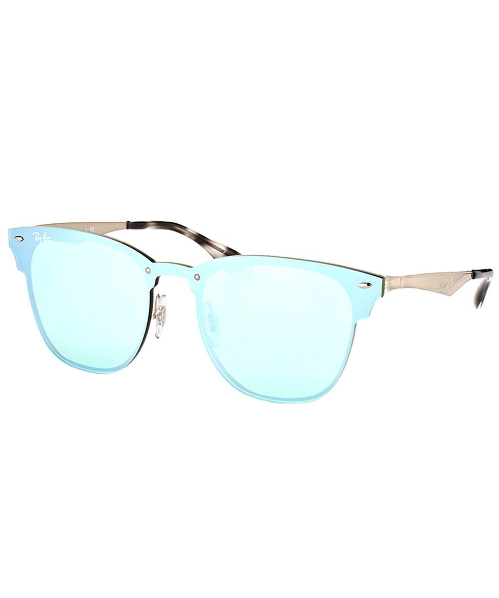 2f9511be669 Ray-Ban Blaze Clubmaster Rb 3576n 042 30 41mm Brusched Silver ...