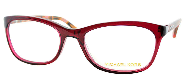 565c70a691 Michael Kors - Mk 281m 618 52mm Red Rectangular Eyeglasses - Lyst. View  fullscreen