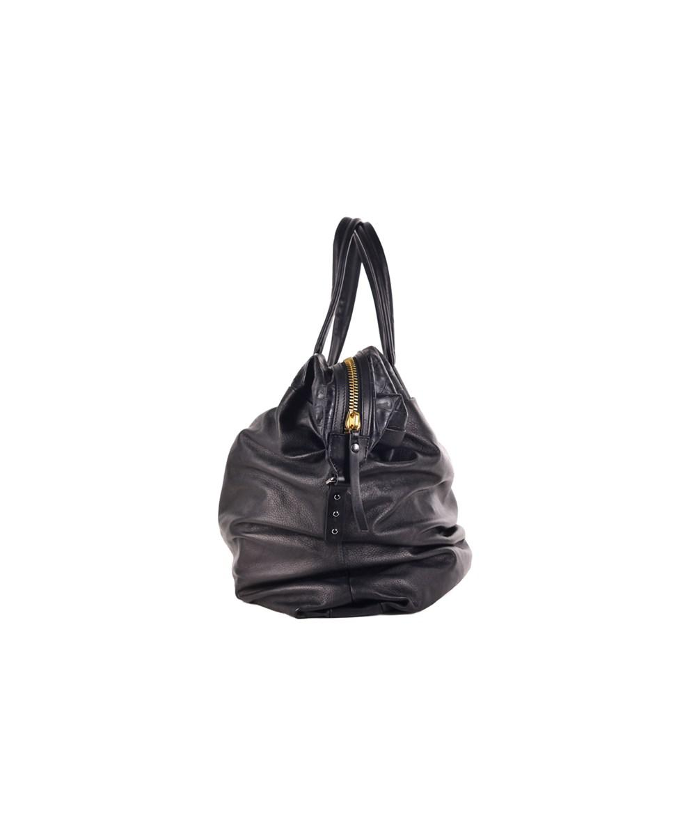 Lyst - Roberto Cavalli Large Black Grain Nappa Leather Croc Embossed Tote  Bag in Black 4c7ecff57b341