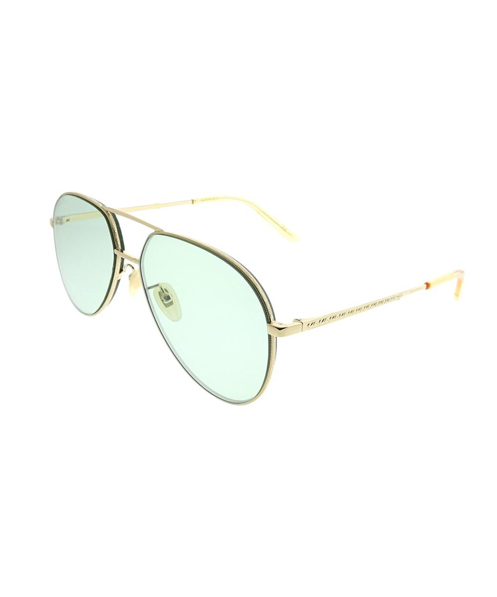 1ecf0f7649f Lyst - Gucci Gg0356s 004 Gold Aviator Sunglasses in Metallic