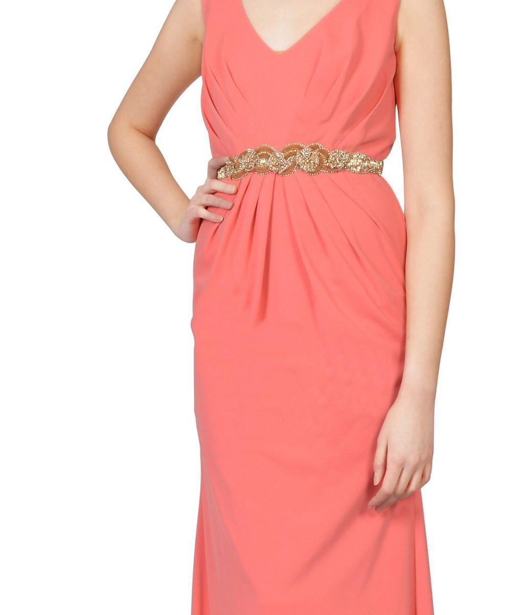 Evening Dress Coral Orange