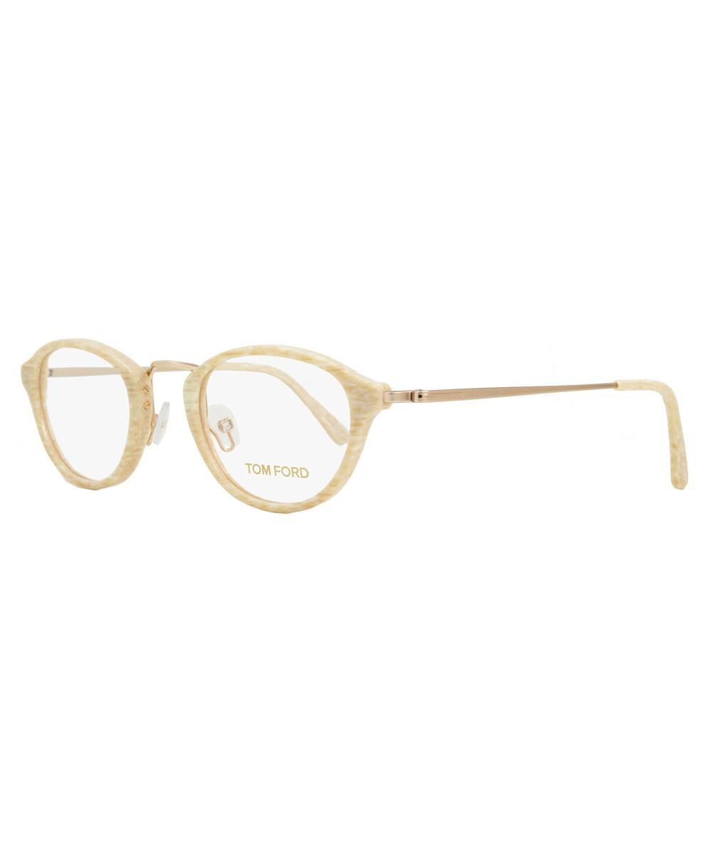 1d9532195e4 Tom Ford Oval Eyeglasses Tf5321 060 Size  47mm Striped Ivory gold ...