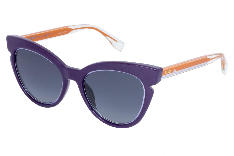 23bcfed1ce1 Lyst - Fendi 0132 s Cat Eye Women Sunglasses Violet Crystal in Blue