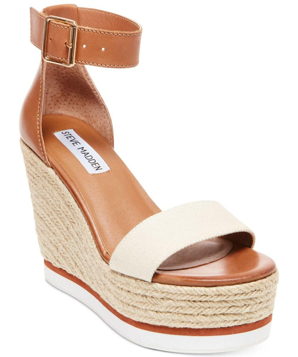 3ffb75d0492 Steve Madden. Brown Womens Veda Open Toe Special Occasion Platform Sandals