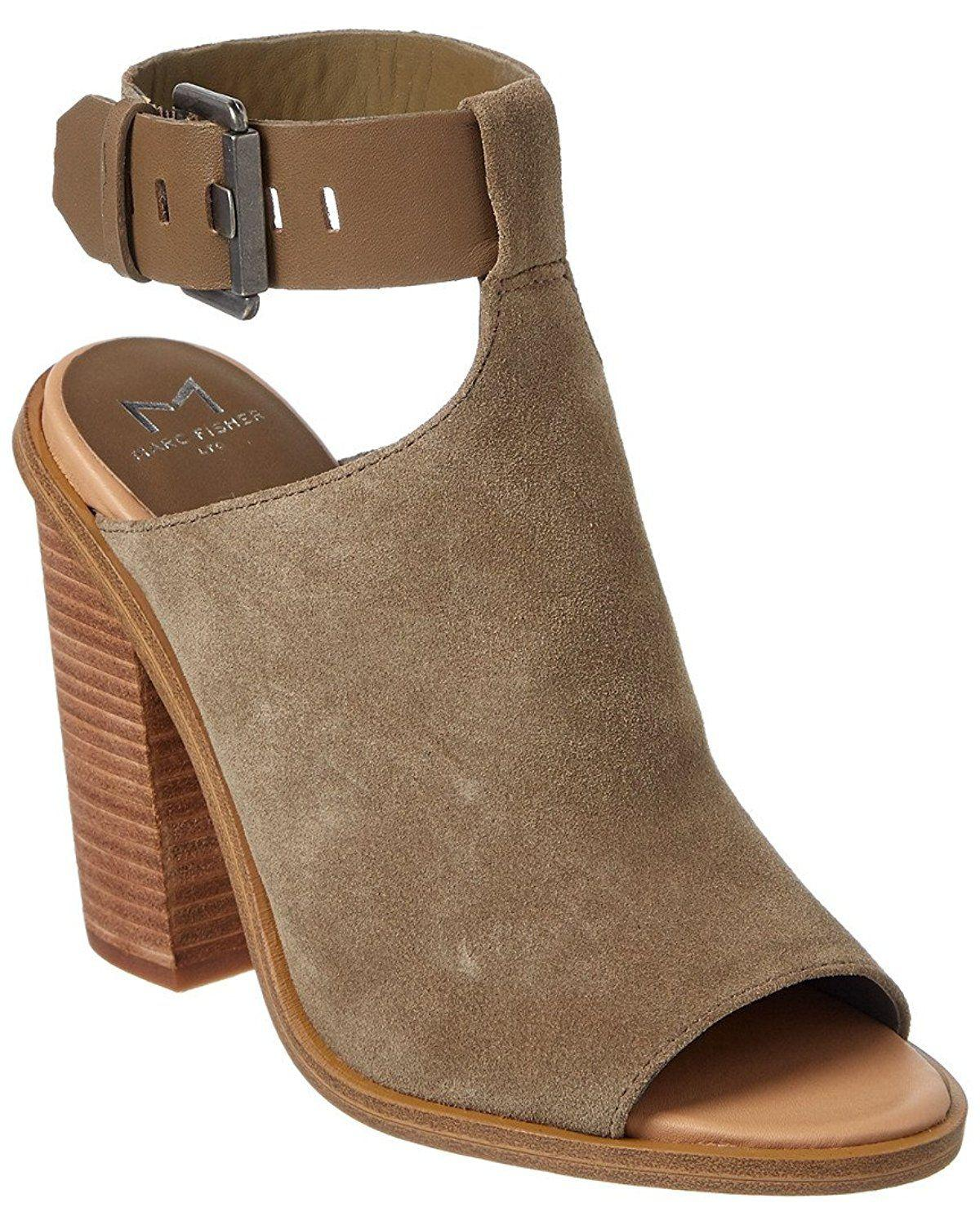 333ef0f67ea Lyst - Marc Fisher Womens Vashi Leather Open Toe Casual Ankle Strap ...